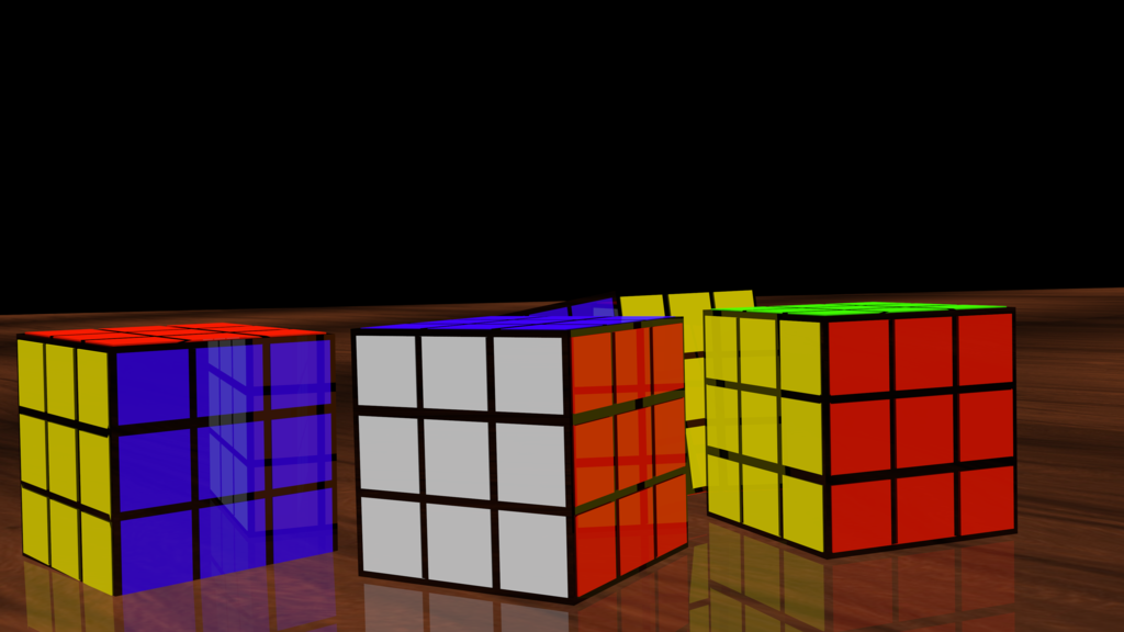 RUBIKS CUBE Puzzle 3D Model Render by HomelessGoomba 1024x576