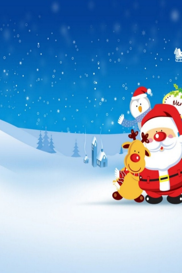 Funny Christmas Wallpaper   640x960   105784 640x960