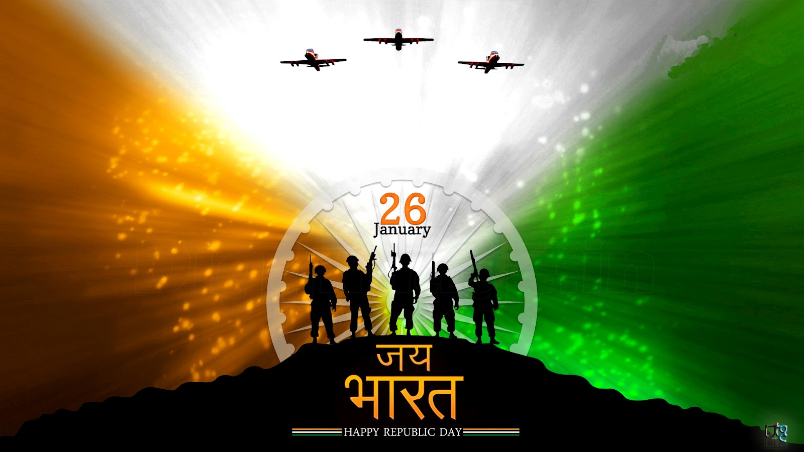 26th JanuaryRepublic Day Grettings wishes wallpapers and Quotes to 1600x900