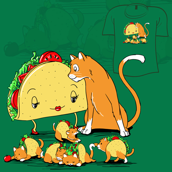 Woot Shirt   Taco Cat by fablefire 580x580