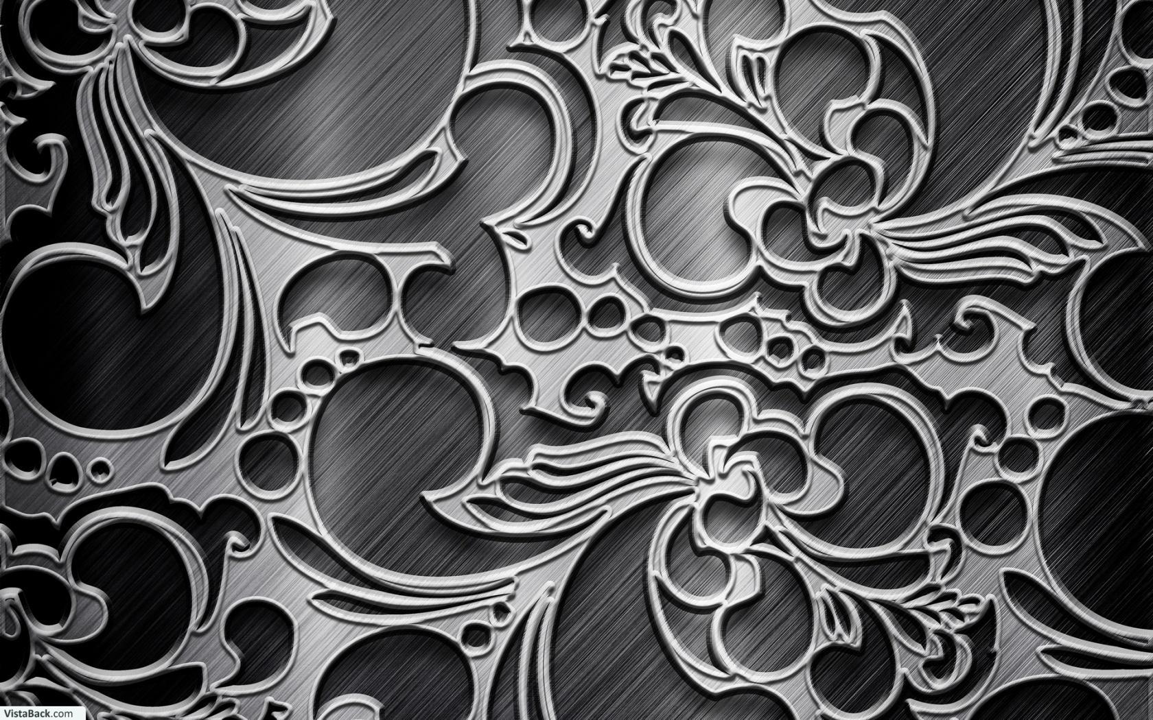 Download Texture Metallic Black Silver Pattern Wallpaper 1680x1050 1680x1050