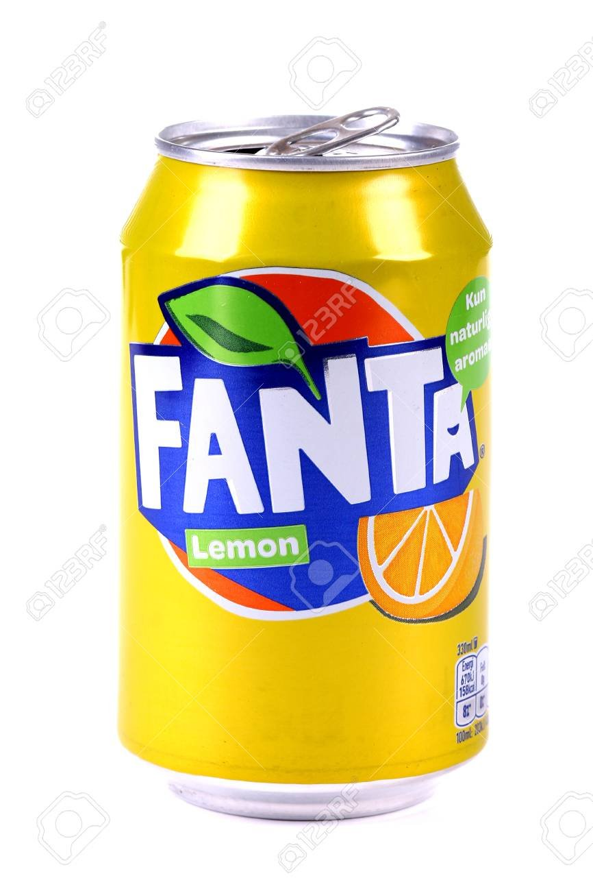 Aluminium Can Of The Fanta Lemon Isolated Over White Background 866x1300