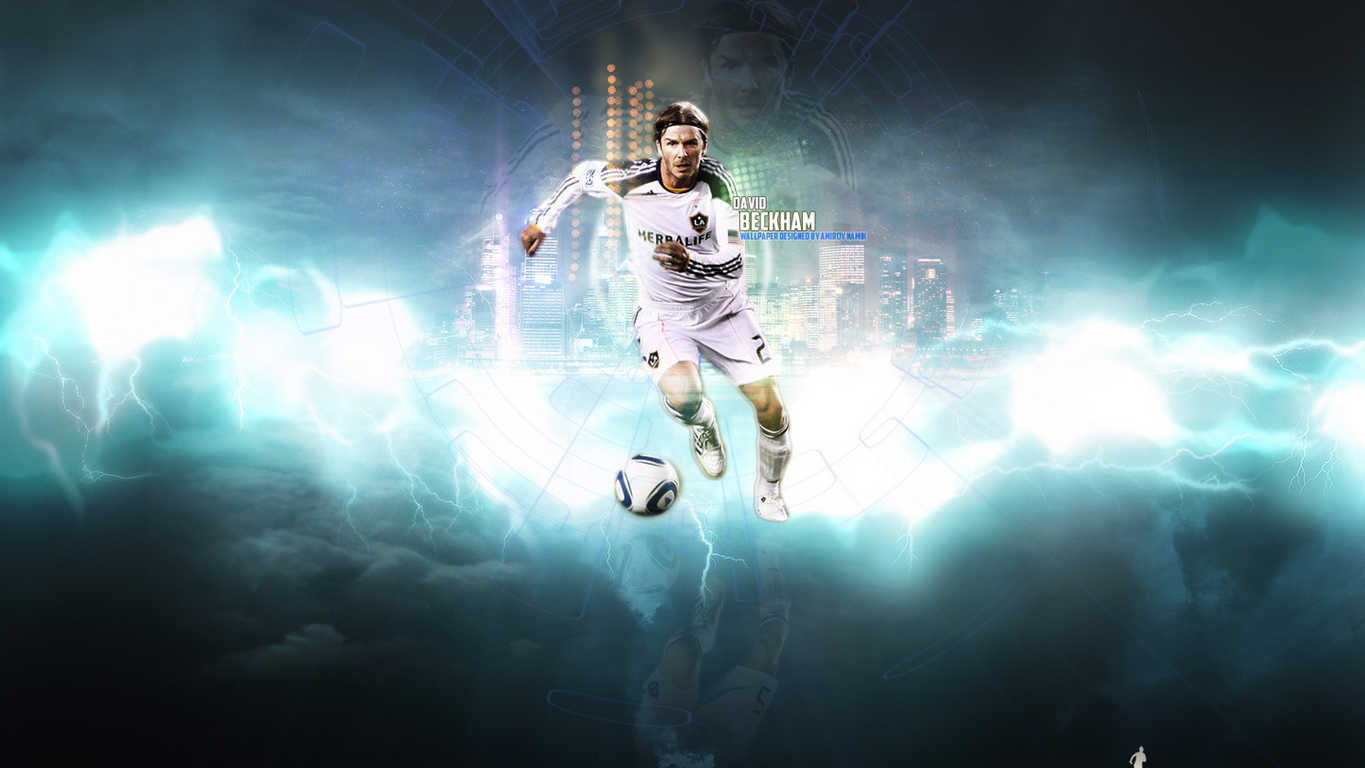 HD wallpaper David Beckham Widescreen Wallpaper Soccer Wallpapers by 1365x768
