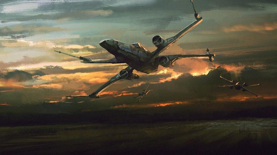 force awakens x wing wallpaper wallpapersafari
