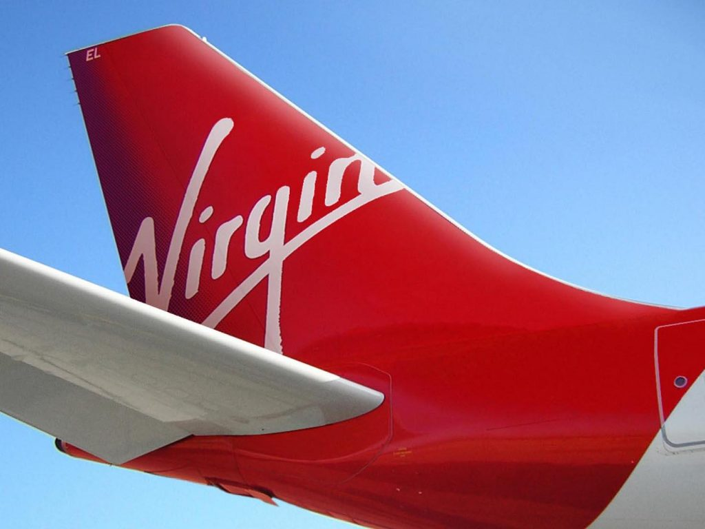 Rear End Of The Virgin Aircraft Wallpaper PaperPull 1024x768