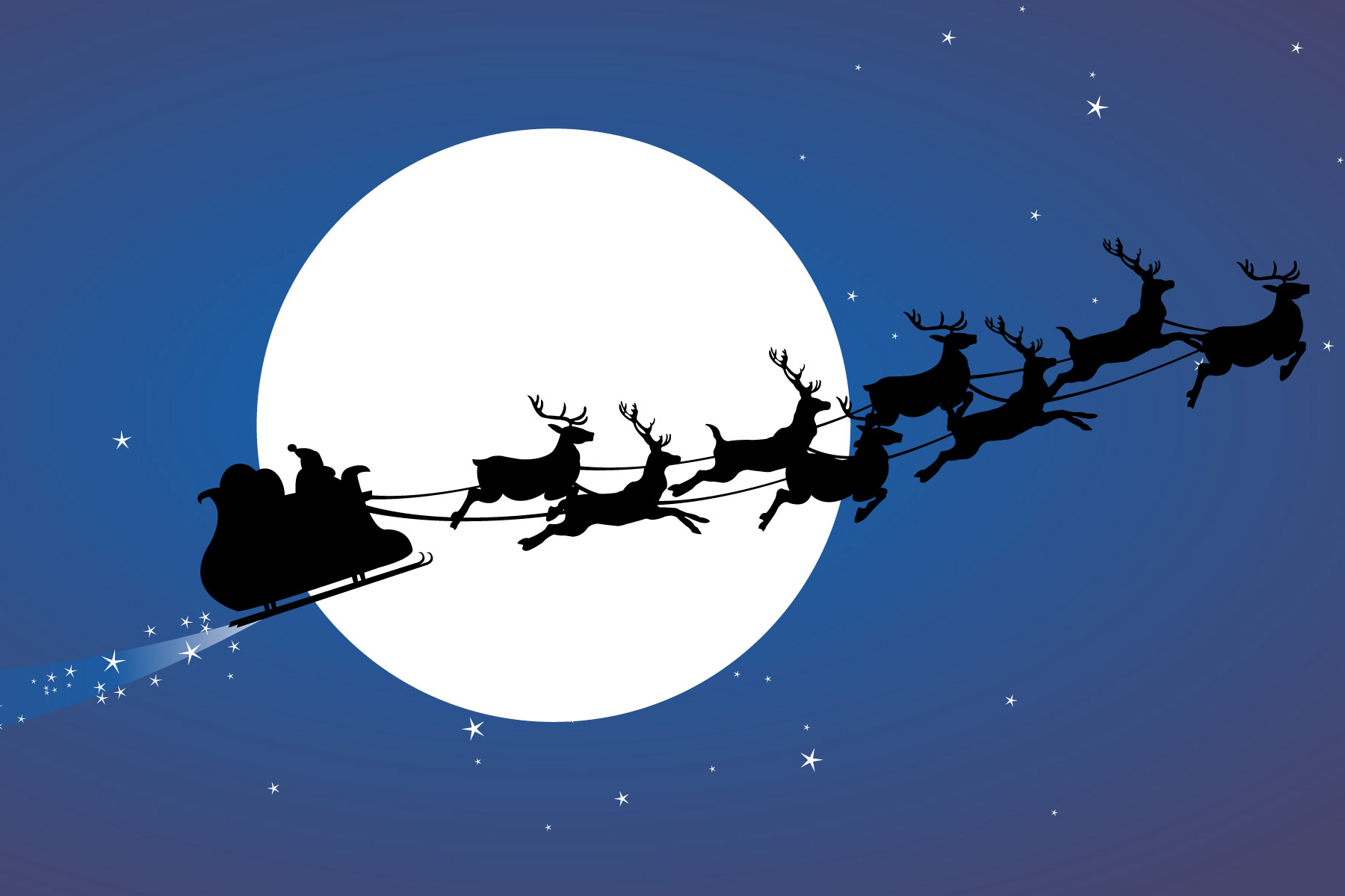 hd santas night flight wallpaper Car Pictures 1800x1200