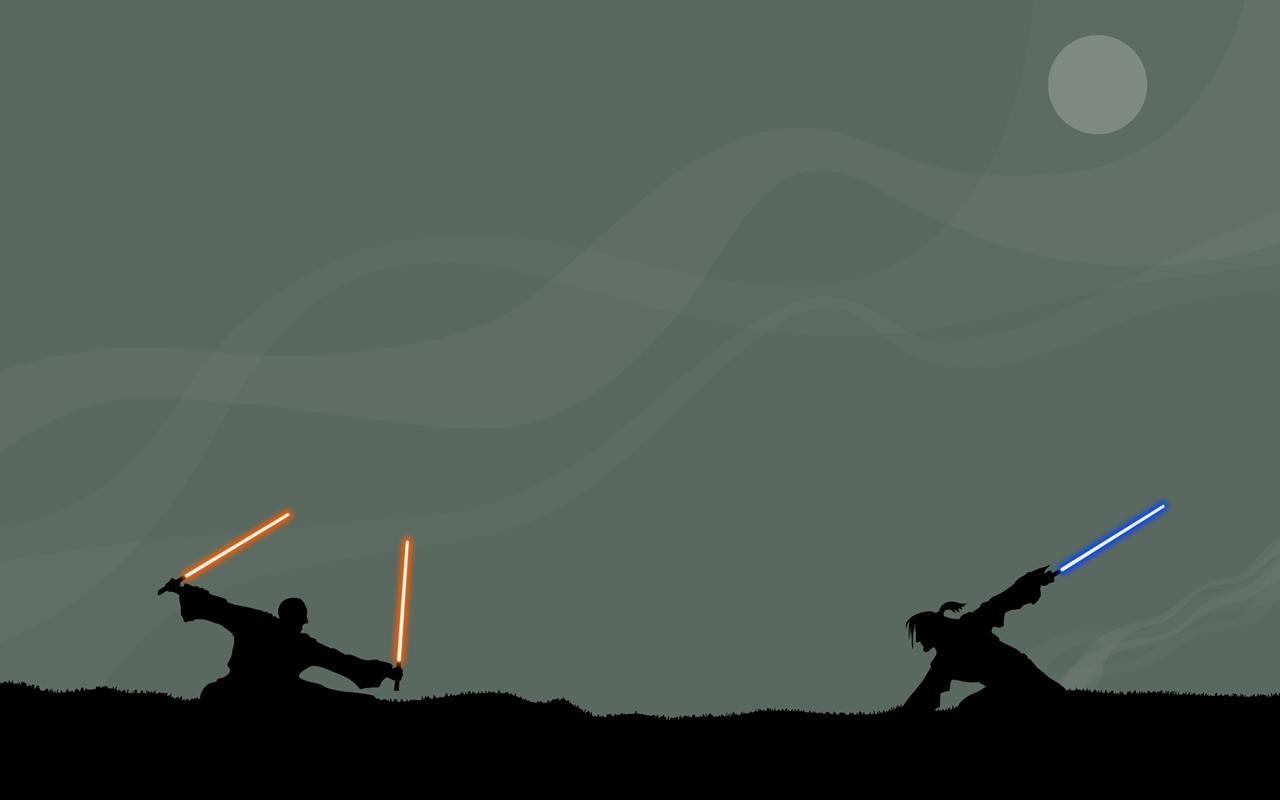 Free Download Star Wars Jedi Duel Dual Monitor Wallpaper
