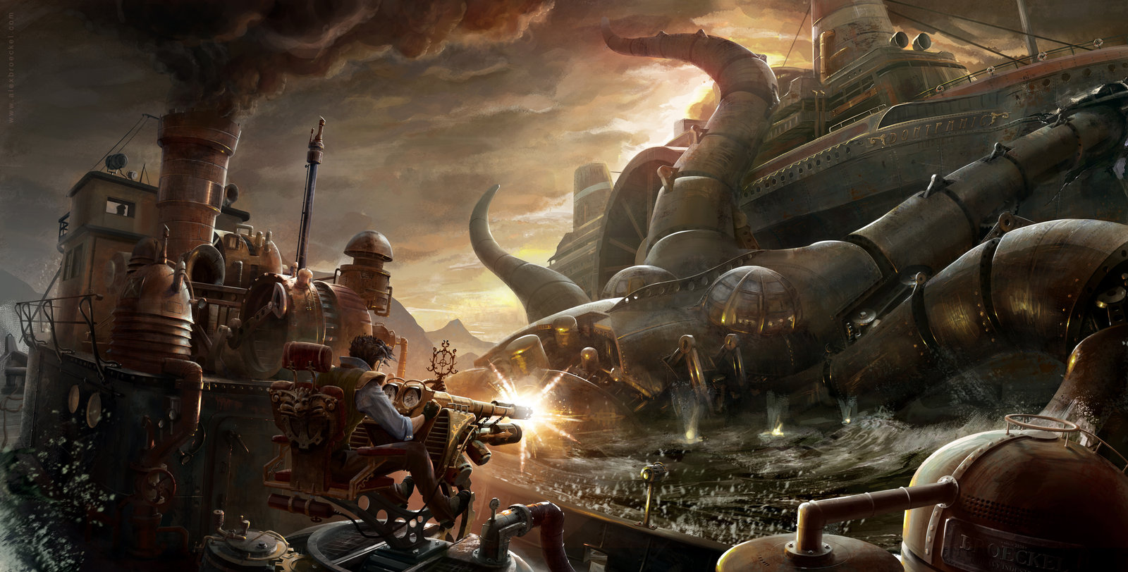 Steampunk is here Back to the 80s 1880s Cool steampunk art 1600x812