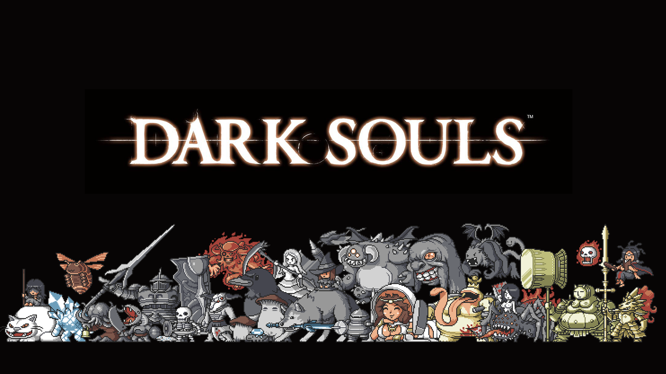 16 bit Dark Souls wallpaper 1366x768