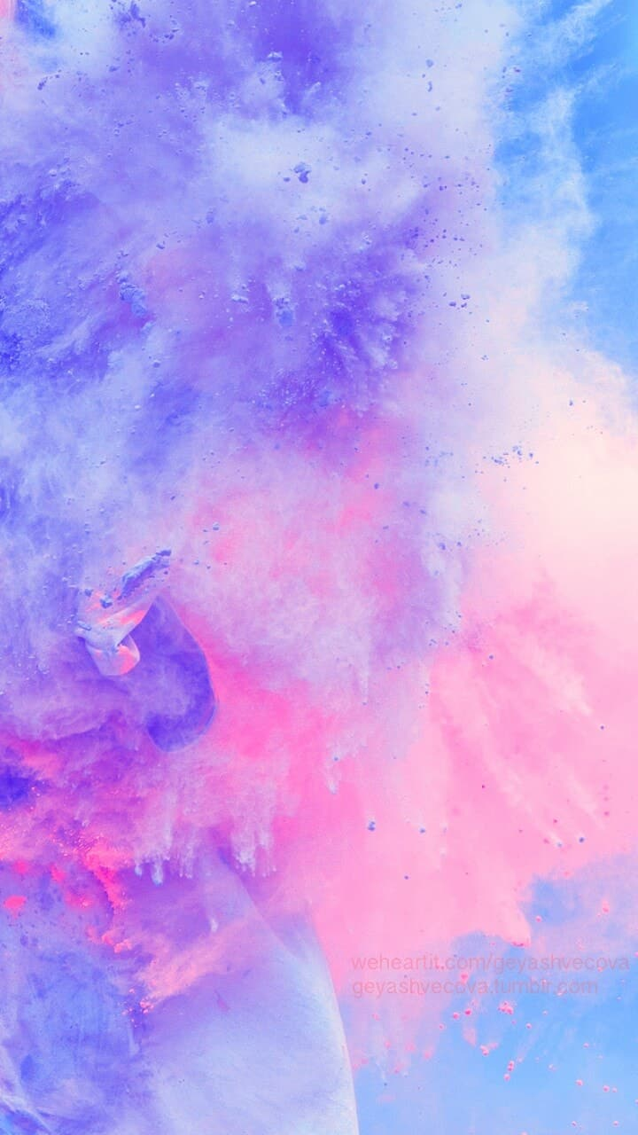 Wallpaper Background And Beautiful Image   Watercolor Galaxy 720x1280