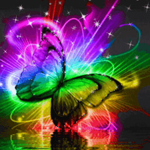 Colored Butterfly on Water Live Wallpaper Kindle Fire Apps 512x512