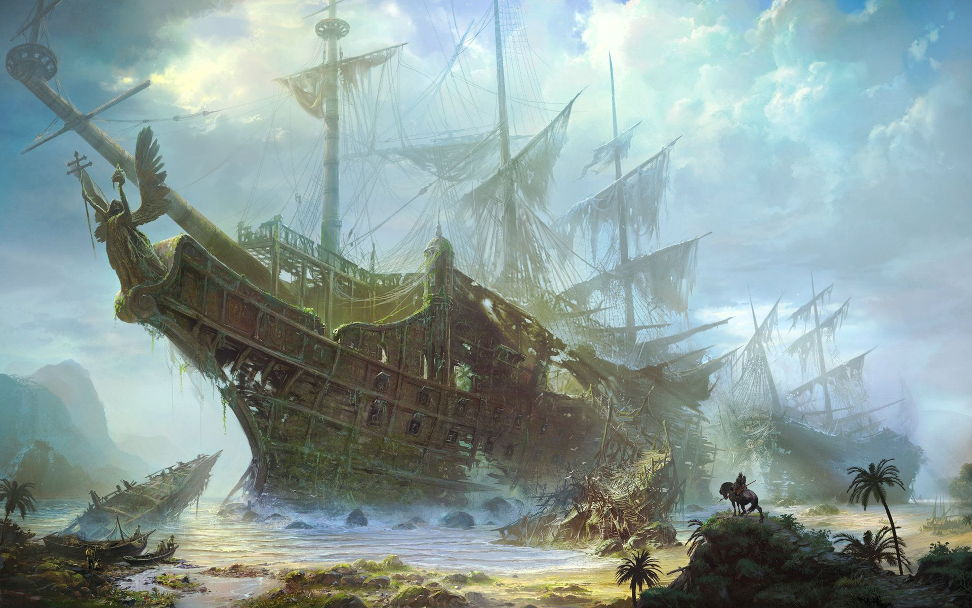 Wallpapers For Pirate Ship Wallpaper 1280x1024 1920x1200