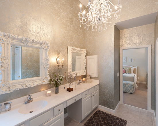 Silver Metallic Wallpaper Beautiful Homes Design 550x440