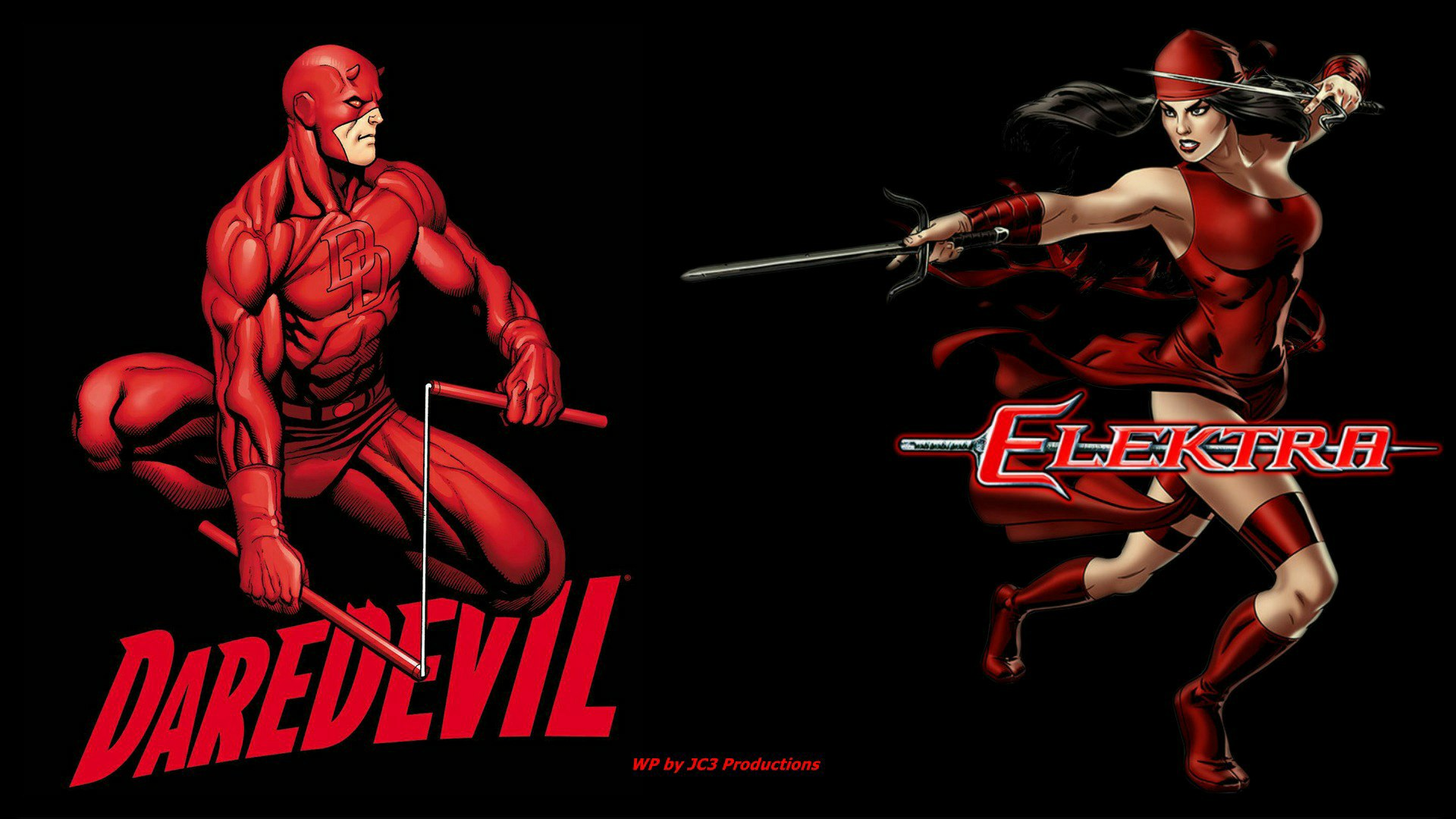 Daredevil Wallpaper   Elektra Together by Curtdawg53 1920x1080