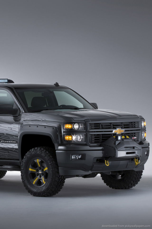 Chevrolet Silverado Black Ops Concept Wallpaper For iPhone 4 640x960