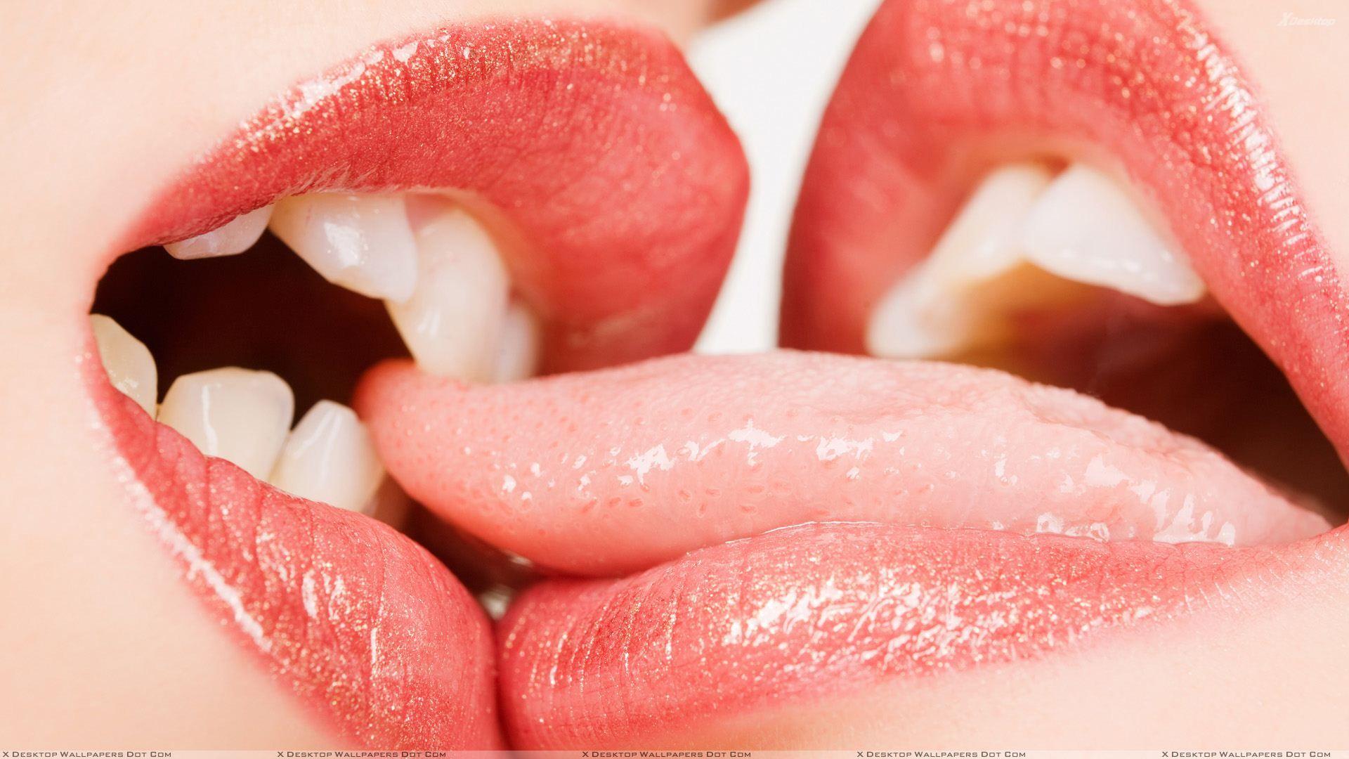 lips Red Glossy Lips Kissing Wallpaper hot lips Kiss images 1920x1080