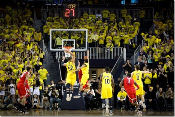 Michigan Basketball Wallpaper Hd Michigan 56 ohio state 51 27 564x377