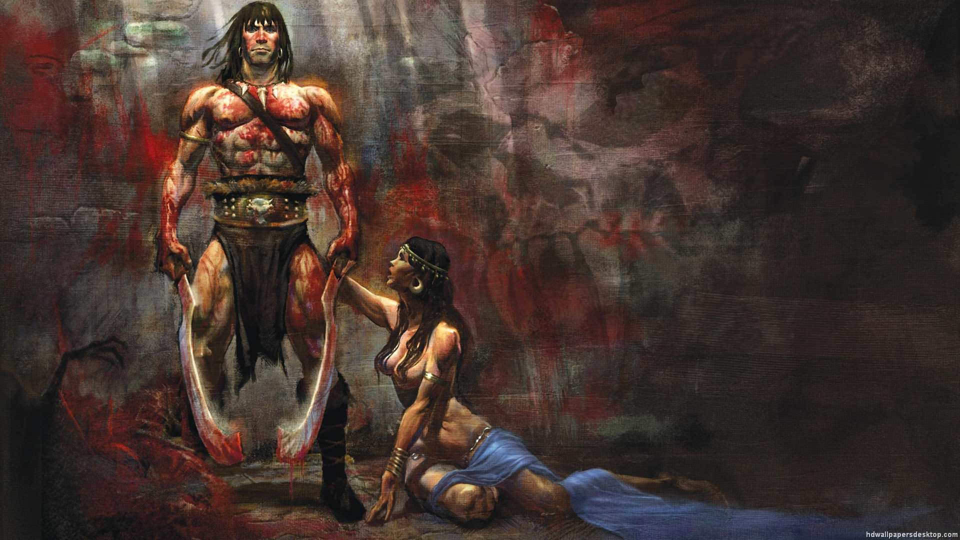 Conan the Barbarian Wallpaper Conan Red Sonja Wallpaper 1920x1080 1920x1080