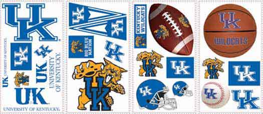 University of Kentucky Peel and Stick Appliques   Wallpaper Border 525x227