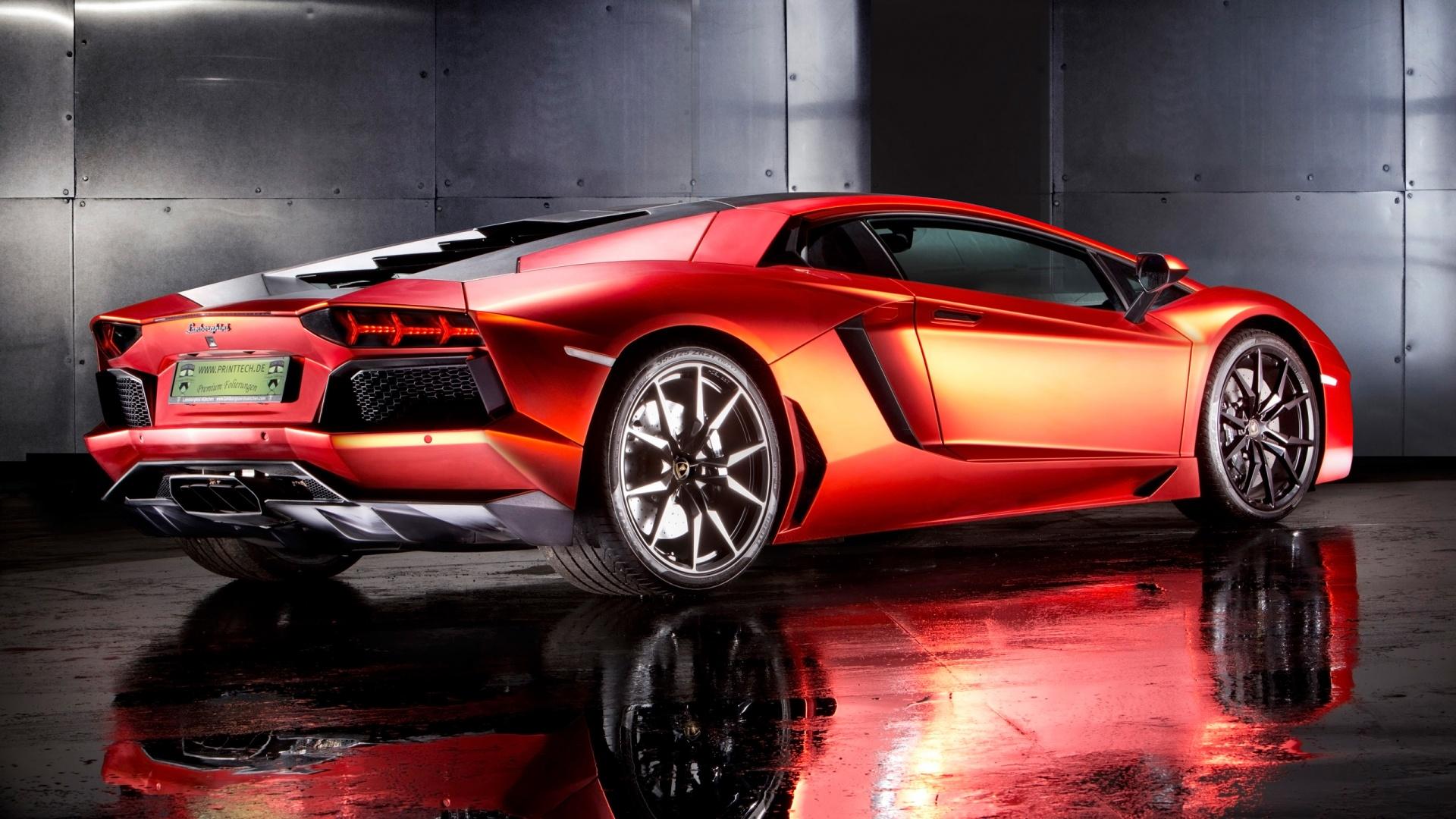 Lamborghini Aventador By Print Tech 2 Wallpaper HD Car Wallpapers 1920x1080