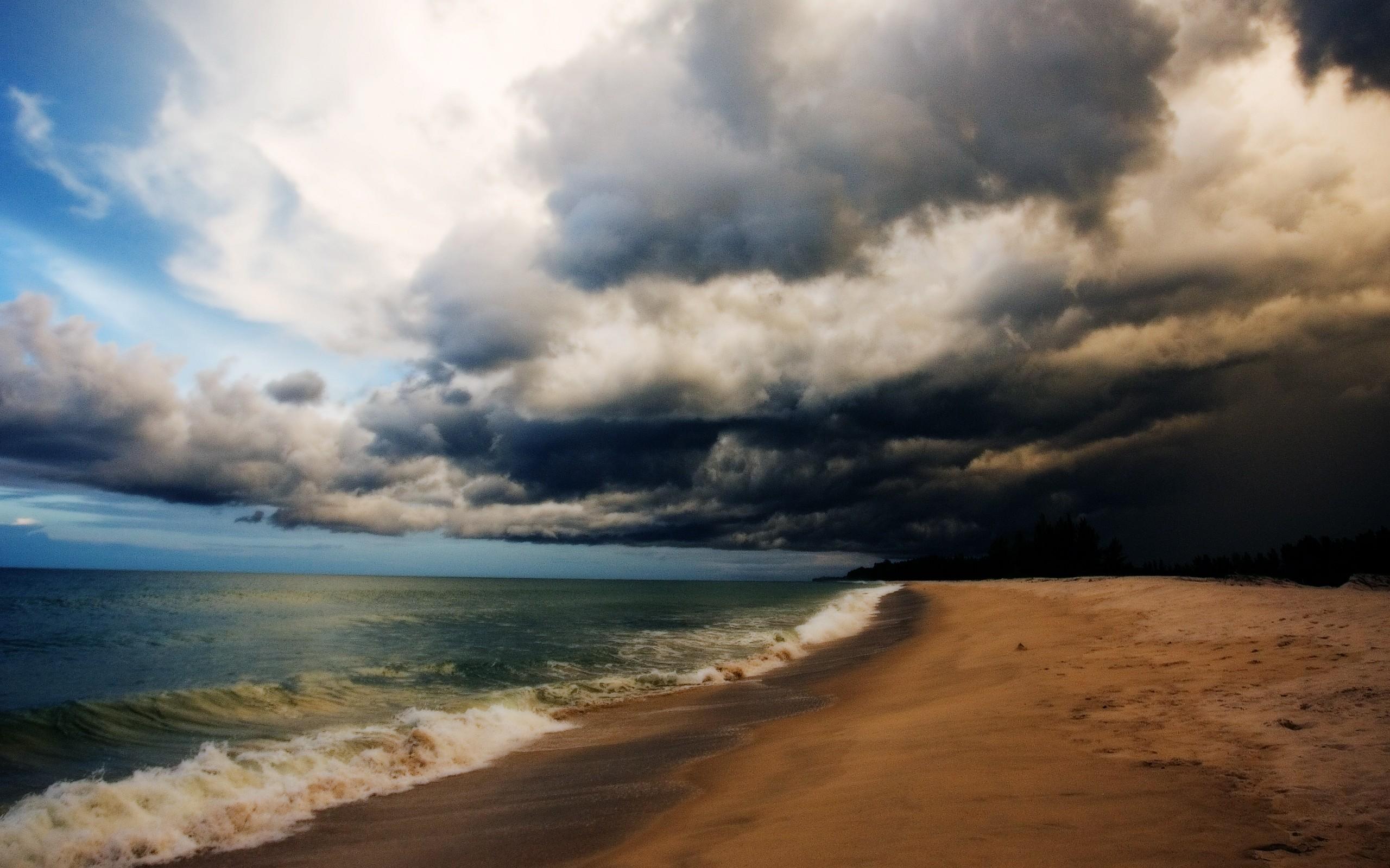 Beach After Storm Wallpaper   Download Wallpaper Nature 2560x1600