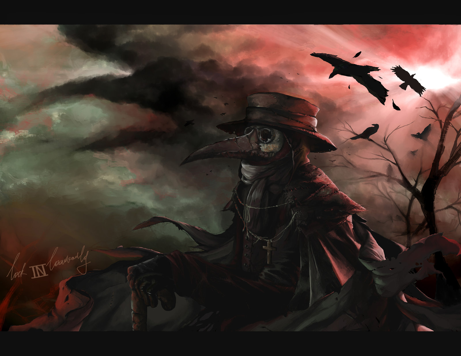 Plague doctor The black death comes by lockinloadeadly on 1600x1237