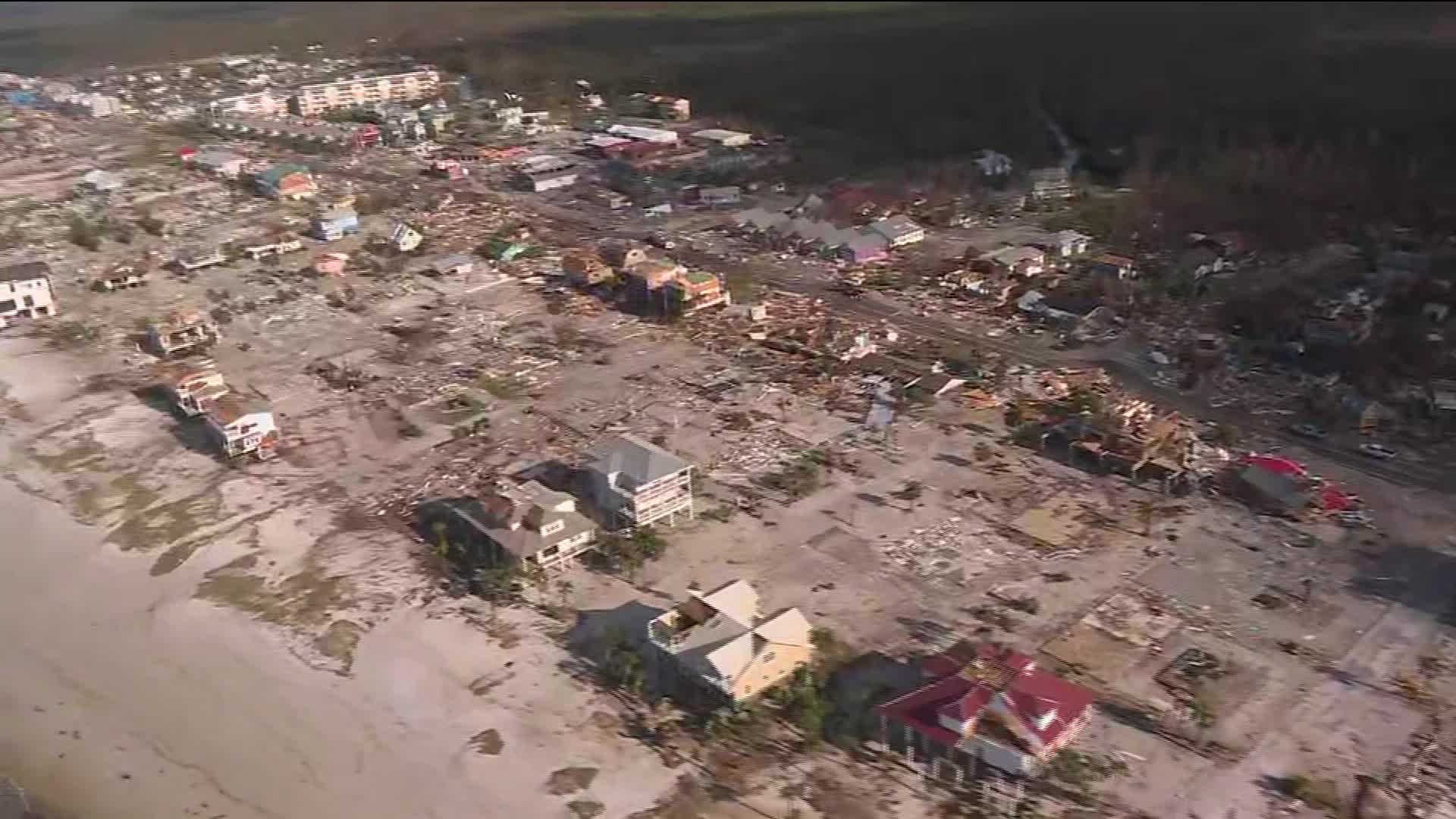 Aerial view shows catastrophic damage in Mexico Beach FL   CNN Video 1920x1080