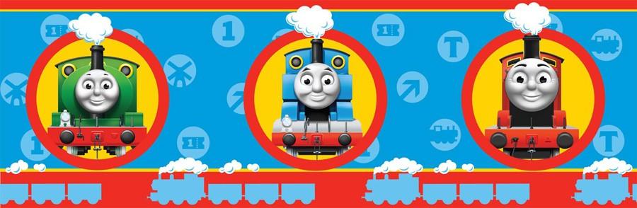 Thomas the Tank Engine No1 Wallpaper Border   7 inch 900x294