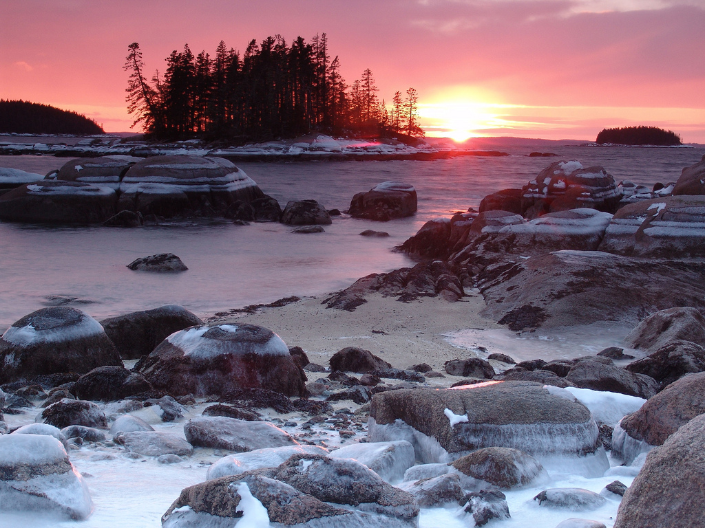 Free Download Maine Coast Winter We Heart It 1024x768 For