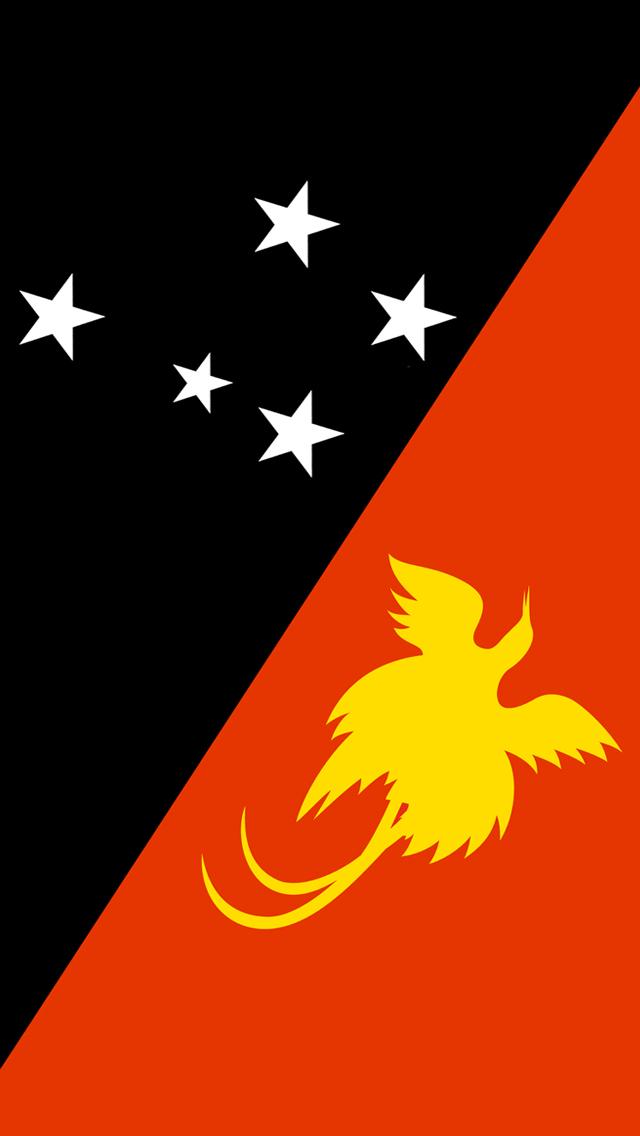 Papua New Guinea Flag iPhone Wallpaper HD 640x1136
