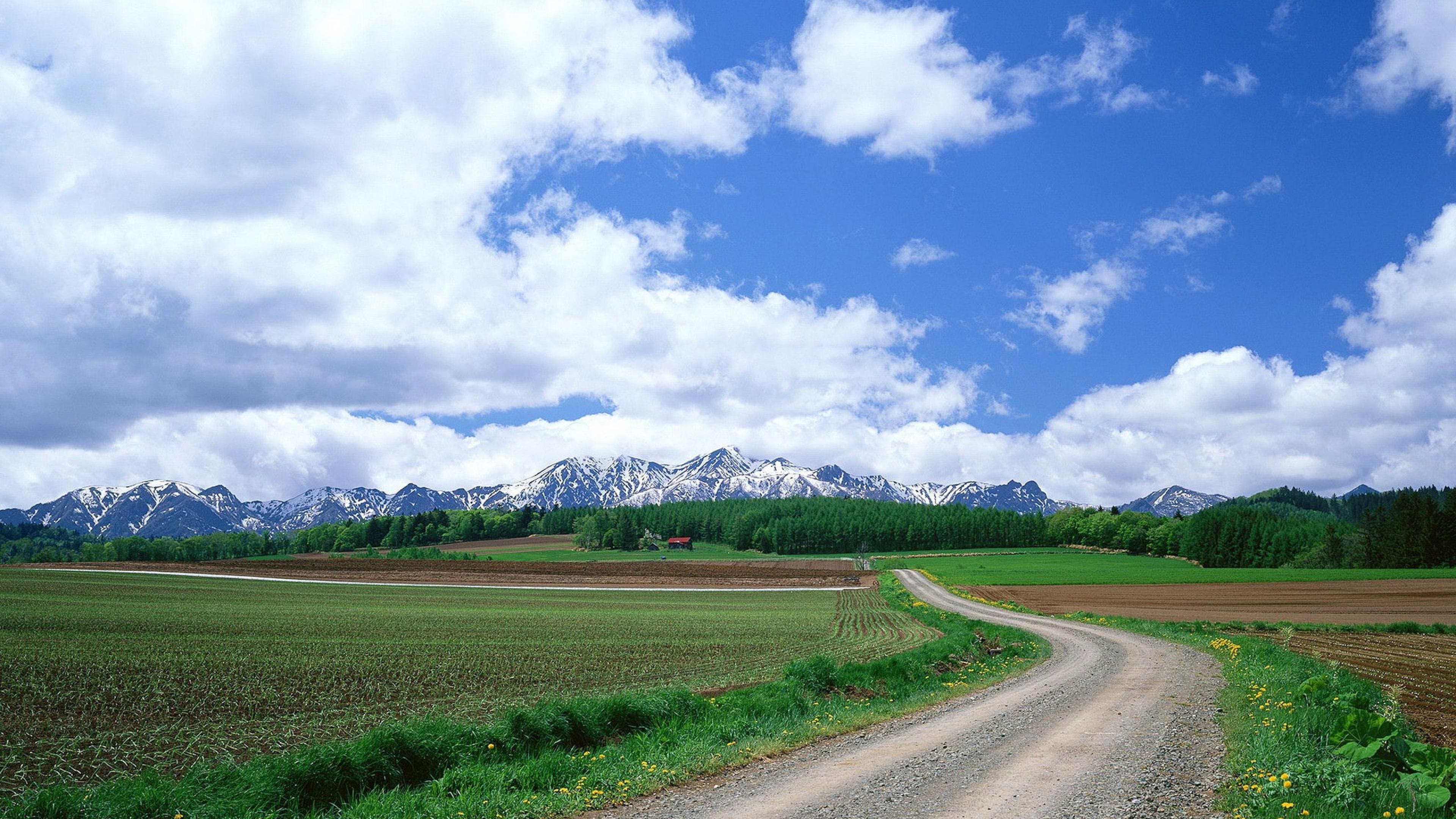 Summer grass Mountains Beautiful Wallpaper Background 4K Ultra HD 3840x2160