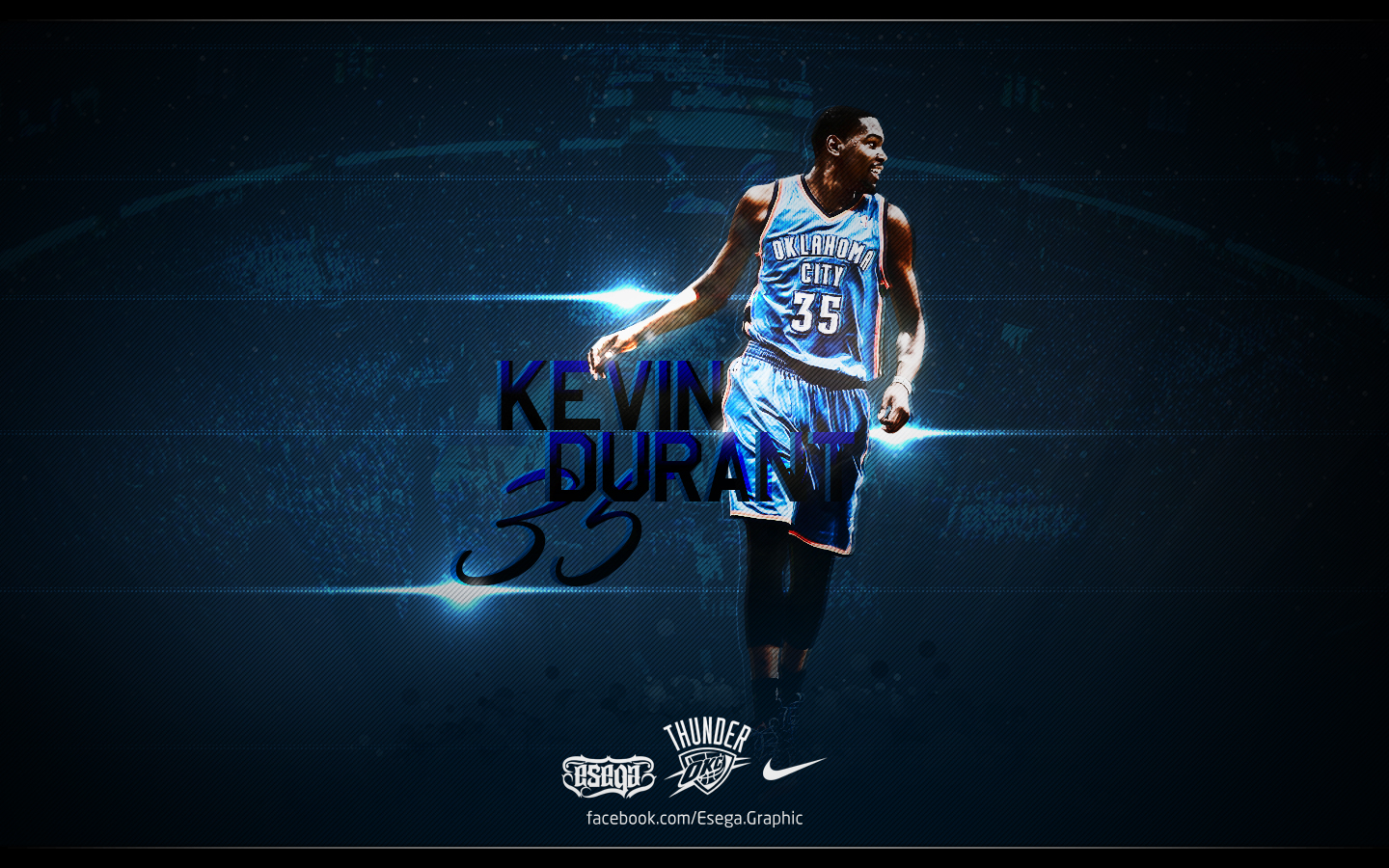 Kevin Durant Wallpaper by EsegaGraphic 1440x900