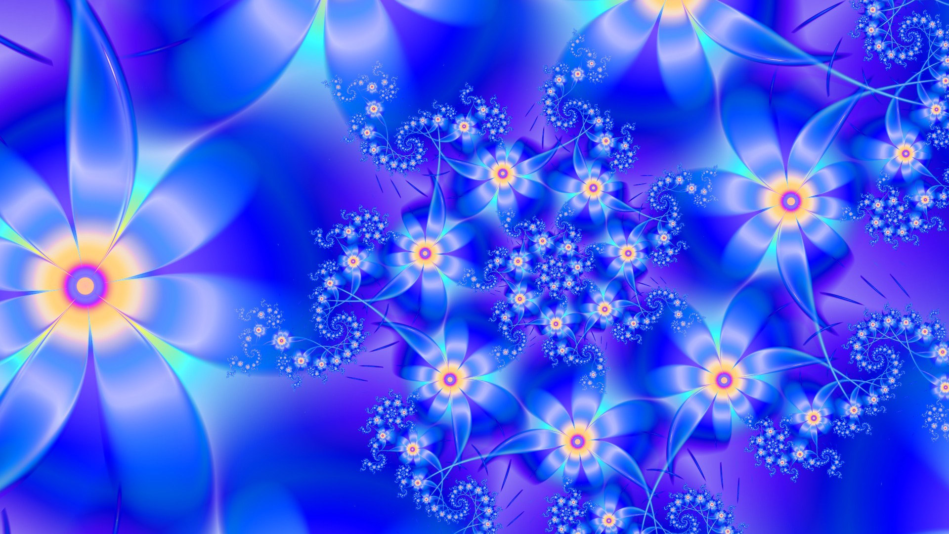 48 Abstract Flowers Wallpaper On Wallpapersafari