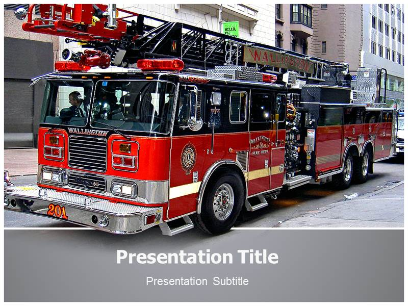 On Fire Department Template Ppt Background On Fire Department 800x600