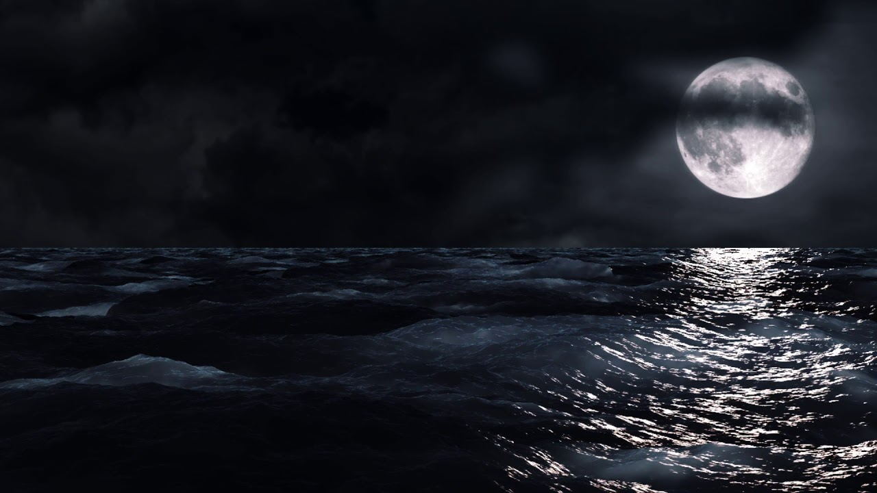 free Hd moving backgrounds  Moon and Sea HD 1280x720