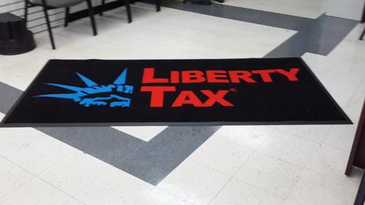 Liberty Tax Logo Vector Custom logo rug delivered to 514x289