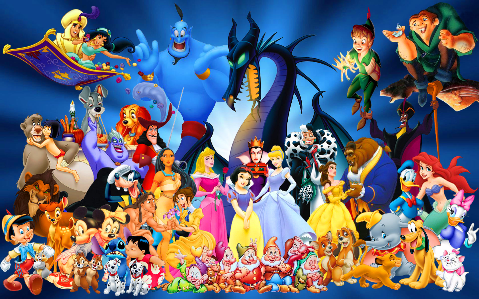 Disney Cartoon Characters computer desktop wallpaper 1920x1200