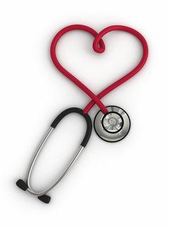 Download Heart Stethoscope wallpapers to your cell phone 240x320