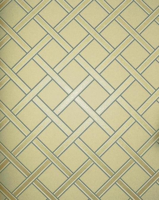 Gilt Trellis Wallpaper Cream wallpaper with gold and duck egg trellis 534x671