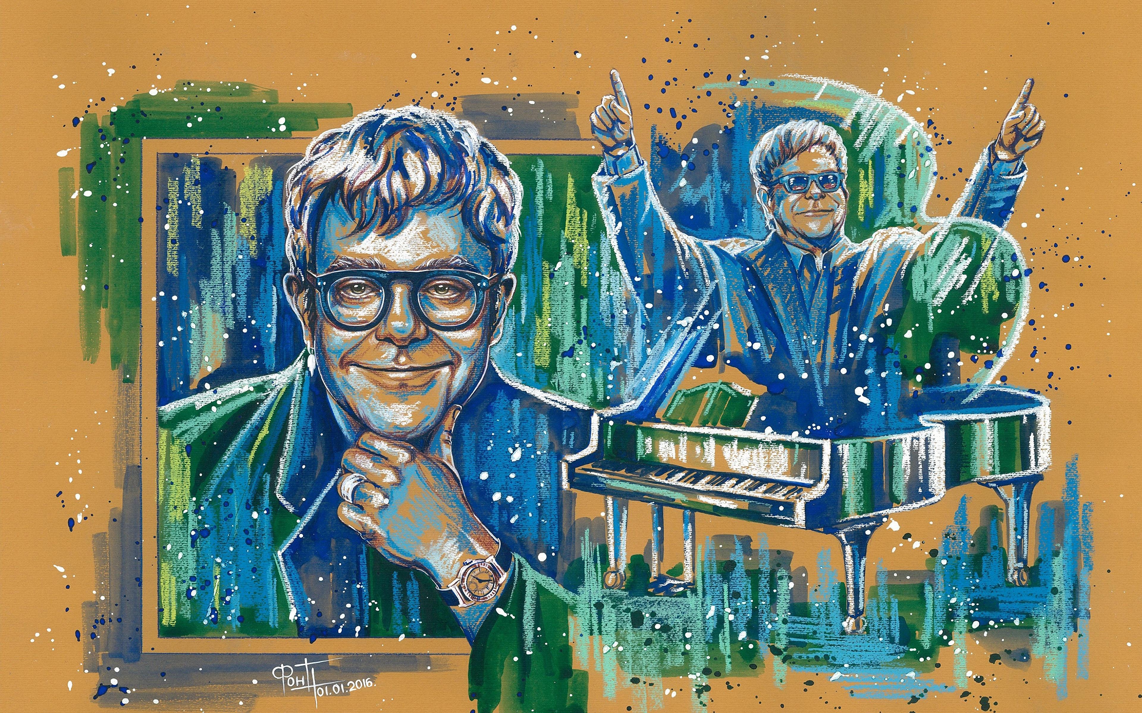 Elton John Wallpaper 14   3840 X 2400 stmednet 3840x2400