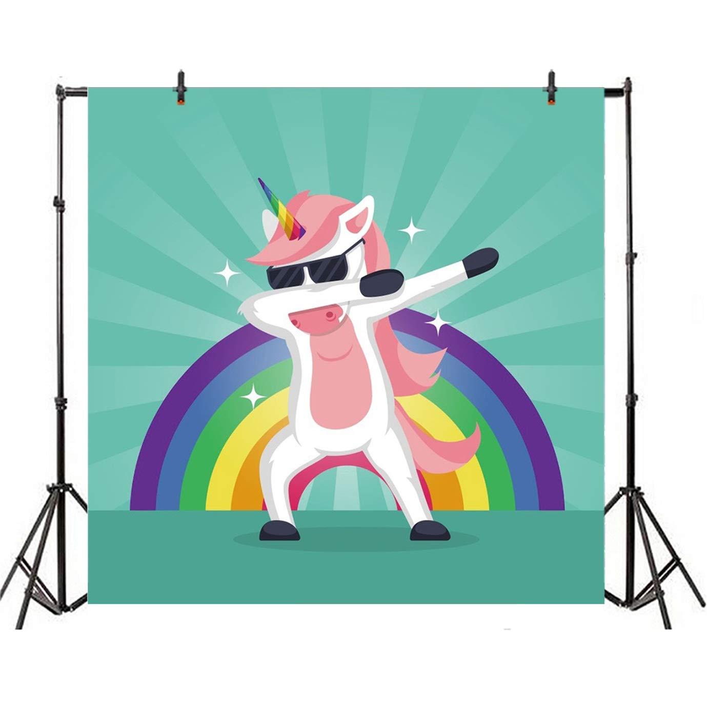 Amazoncom CSFOTO 5x5ft Background for Dabbing Unicorn Cool 1379x1367
