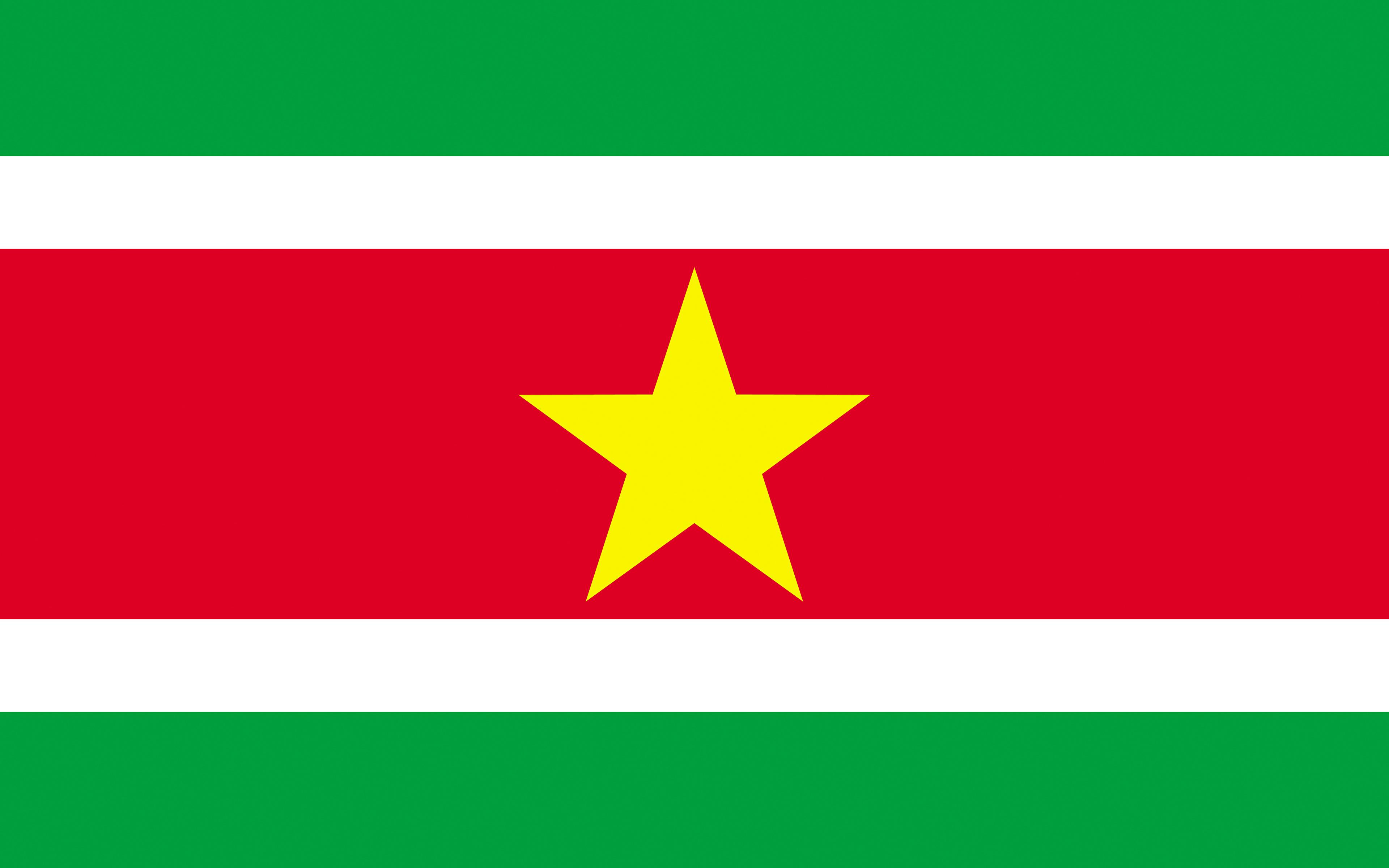 Picture Suriname Flag Stripes 3840x2400 3840x2400