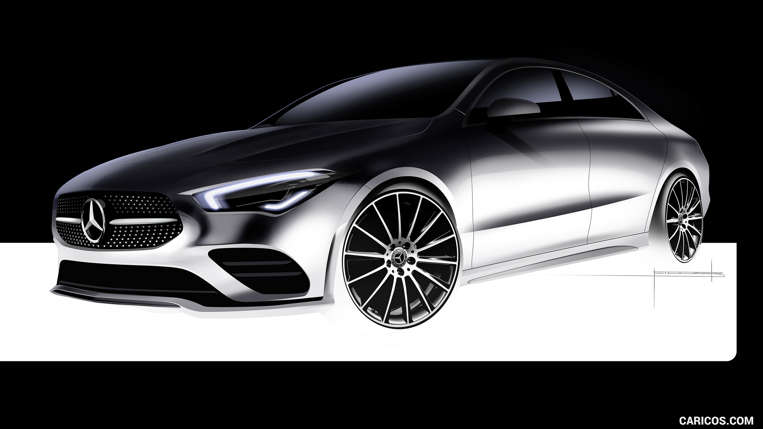 2020 Mercedes Benz CLA 250 Coupe   Design Sketch HD Wallpaper 48 2560x1440