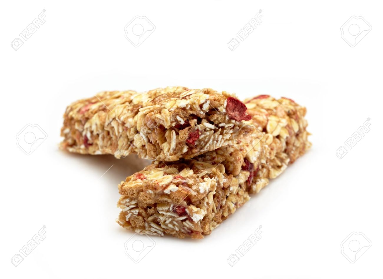Granola Bar On White Background Stock Photo Picture And Royalty 1300x948