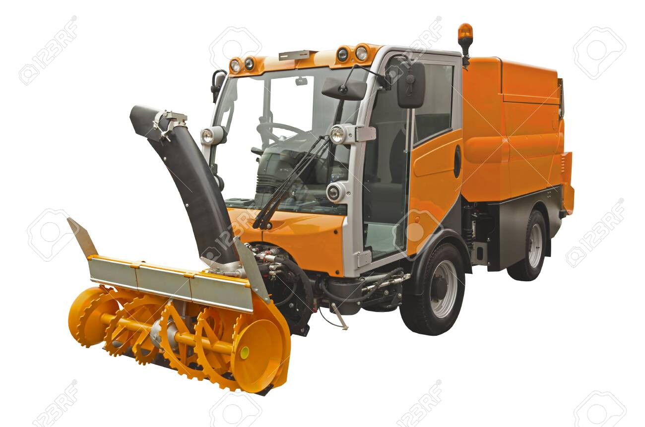 Self Propelled Sweeper Vacuuming Machine Isolated On A White 1300x861