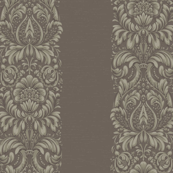 Purple and Taupe Stripe Damask Wallpaper   Wall Sticker Outlet 600x600