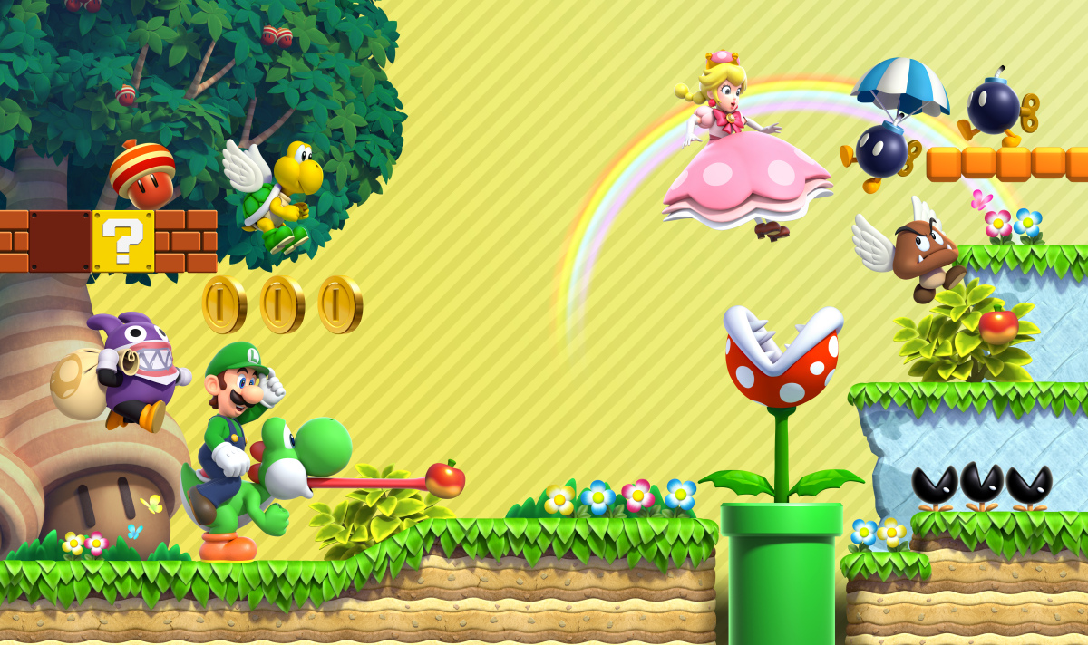 Mushroom Kingdom Features As New Wallpaper From My Nintendo 1200x712