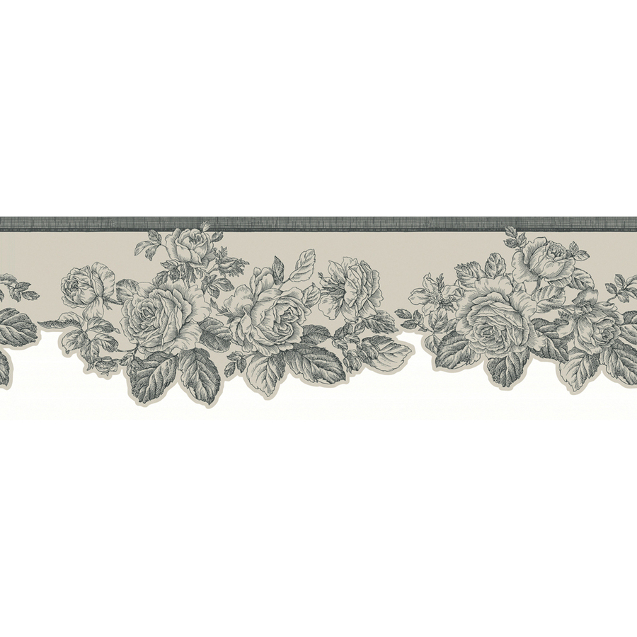 Silver Metallic Rose Prepasted Wallpaper Border at Lowescom 900x900