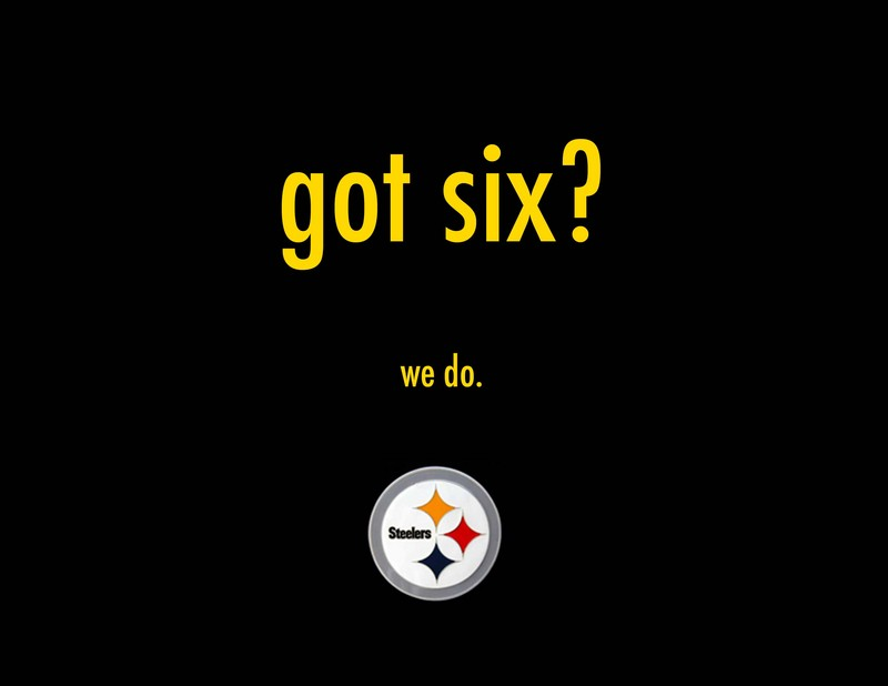 Wallpaper Steelers Got Six 800x618