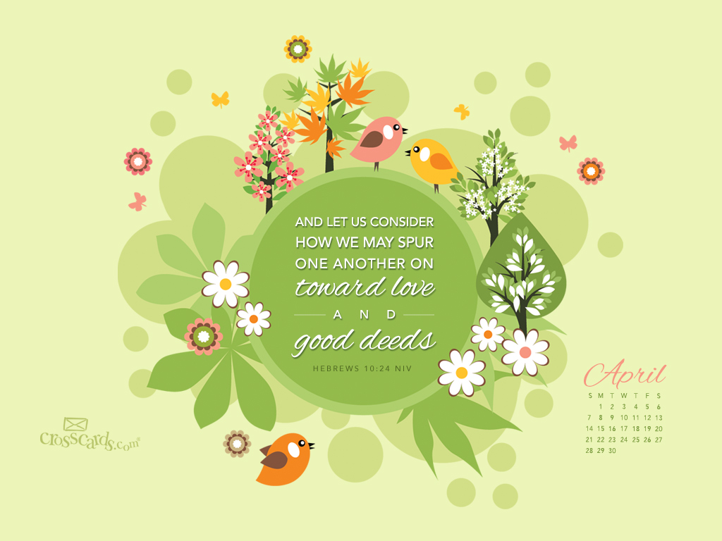 Hebrews 1014 NIV Desktop Calendar  Monthly Calendars Wallpaper 1024x768